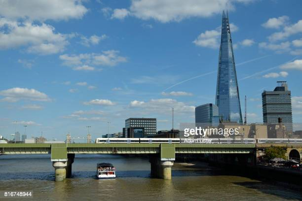 The sunlit Shard and Thames
