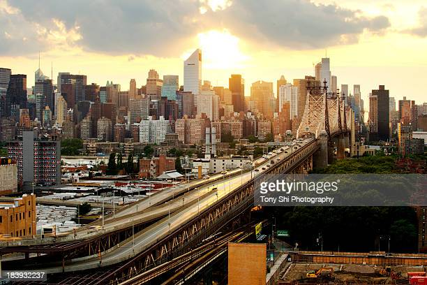 the sunlit upper deck - queens new york city - fotografias e filmes do acervo
