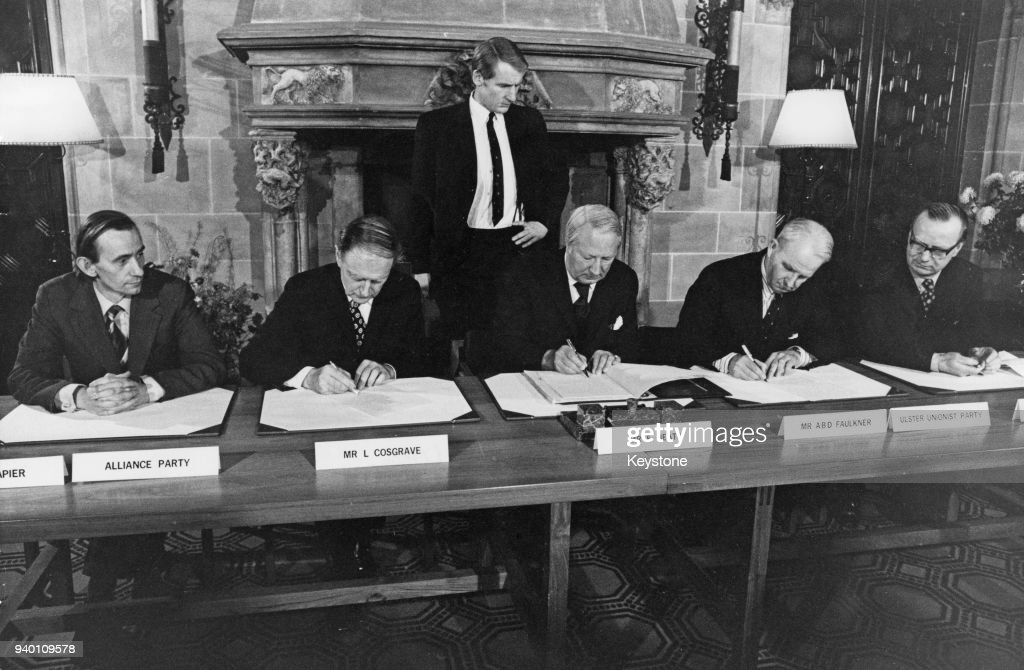 The Sunningdale Agreement For The Council Of Ireland Is Signed At