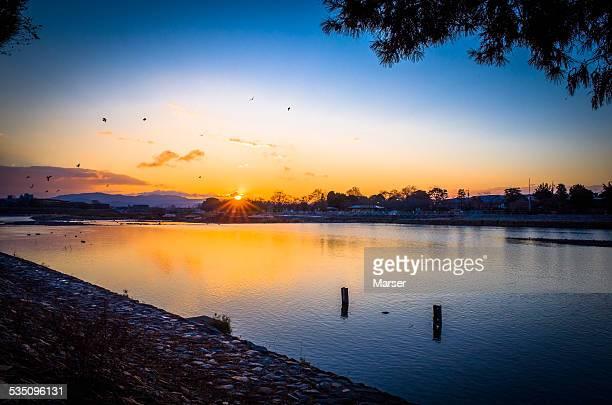 The sunrise in Arashiyama