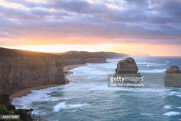 The sunrise in Twelve Apostle