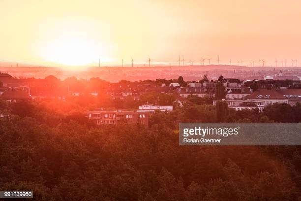 The sunrise is pictured on July 04 2018 in Berlin Germany