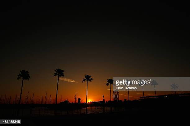 The sunrise over the track prior to the Verizon IndyCar Series Firestone Grand Prix of St Petersburg at the Streets of St Petersburg on March 30 2014...