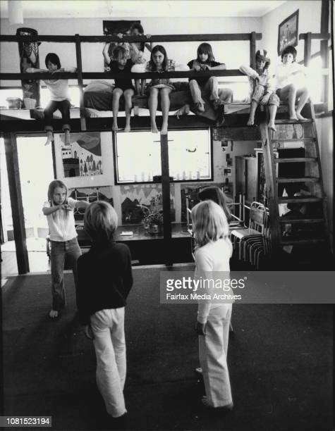 The Sunrise Progressive School Belrose run by the Ananda Marga sectChildren in the drama class November 24 1978