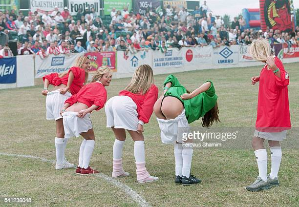 The Sun's Page 3 girls get down and dirty on the pitch