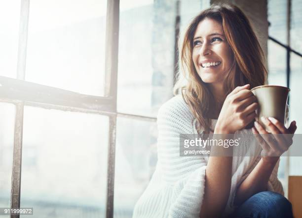 the sun's up and so is my mood - happy stock photos and pictures