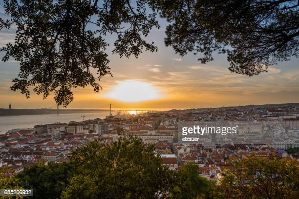 The Sunset and the roofs of Lisbon.