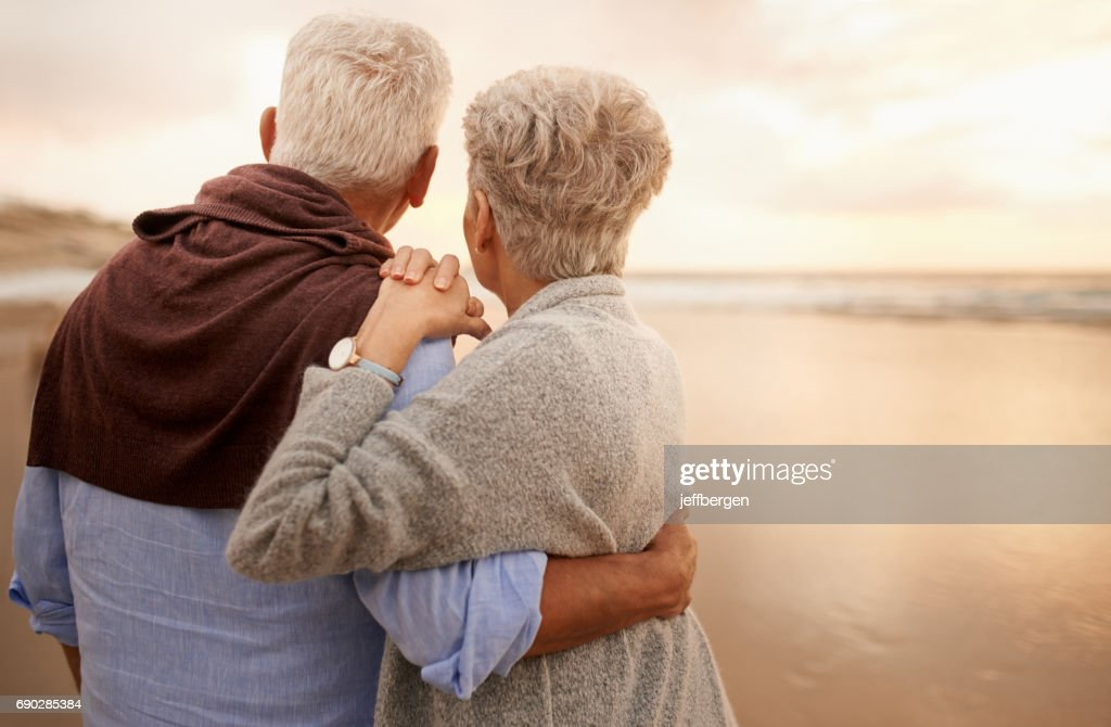 The sunset is an experience best shared : Stock Photo