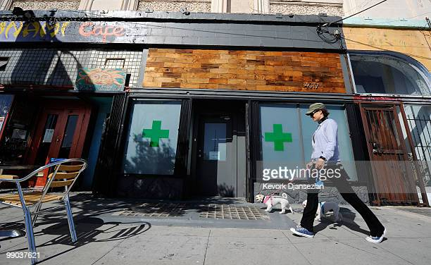 The Sunset Junction medical marijuana dispensary is seen on May 11 2010 in Los Angeles California The dispensary is one 25 plaintiffs in a lawsuit...
