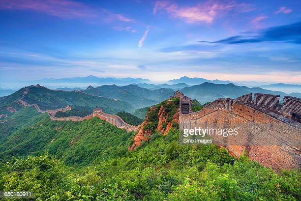 The sunset of Jinshanling Great Wall