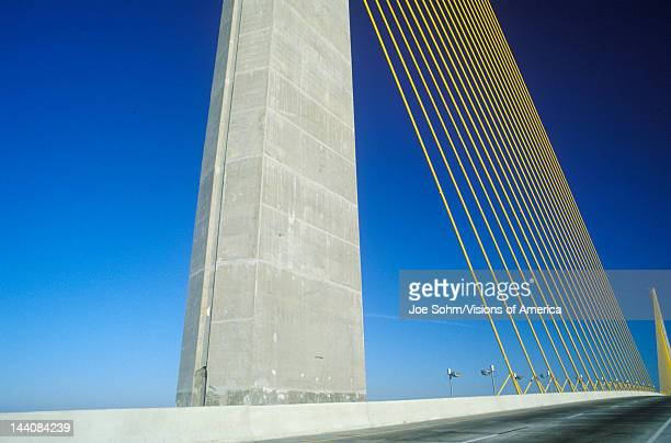 The Sunshine Skyway Bridge in Tampa Bay Florida