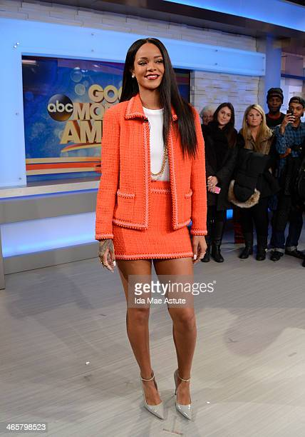 The Super Bowl Boulevard Blowout festivities continue on GOOD MORNING AMERICA, 1/28/14, airing on the Walt Disney Television via Getty Images...
