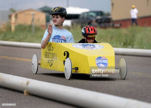 The Super Kids cars allow racers with disabilities a chance to participate in the races with the help of a copilot Drew Macneir left who has cerebral...