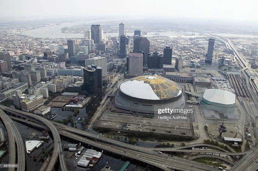 Hurricane Katrina Aftermath - Aerials : News Photo