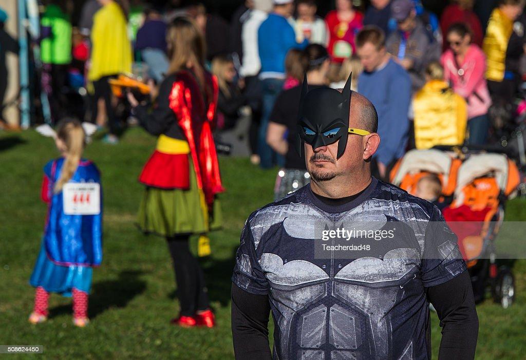 The Superheroes Arrive : Stock Photo