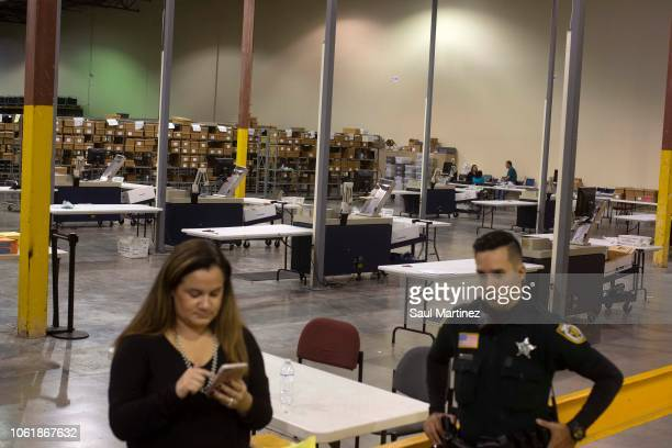 The Supervisor of Elections Service Center is seen on November 15 2018 in Palm Beach Florida Three close midterm election races for US Senate...