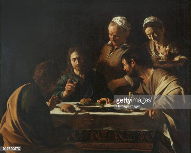 The Supper at Emmaus 1606 Found in the Collection of Pinacoteca di Brera Milan