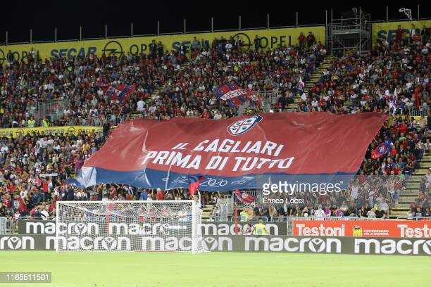 the supporters of Cagliari during the Serie A match between Cagliari Calcio and FC Internazionale at Sardegna Arena on September 1 2019 in Cagliari...