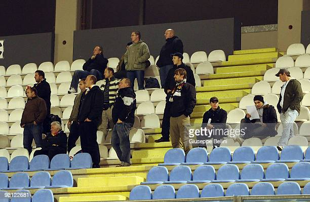 The supporters of Germany are seen during the UEFA U21 Championship match between San Marino and Germany at Olimpico stadium on November 17, 2009 in...