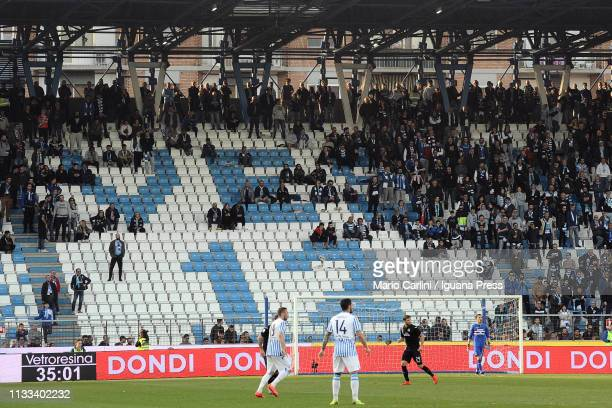 The supporters of SPAL during the Serie A match between SPAL and UC Sampdoria at Stadio Paolo Mazza on March 03, 2019 in Ferrara, Italy.