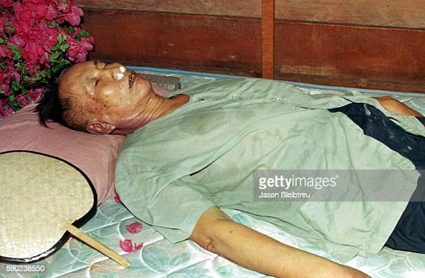 The supposed remains of the Khmer Rouge dictator on show near the Thai border