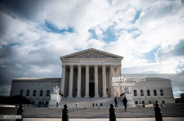 The Supreme Court Building is seen on Decmeber 24 2018 in Washington DC The Supreme Court Building is located at 1 First Street NE and was designed...