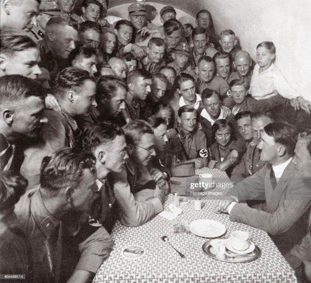 The Supreme SA Leader Adolf Hitler With His Comrades' 1938 : News Photo