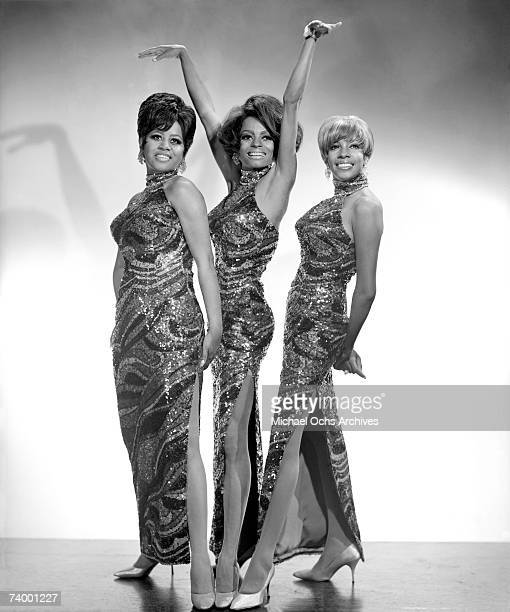 The Supremes Cindy Birdsong Diana Ross and Mary Wilson pose for a portrait circa 1967 in New York City New York