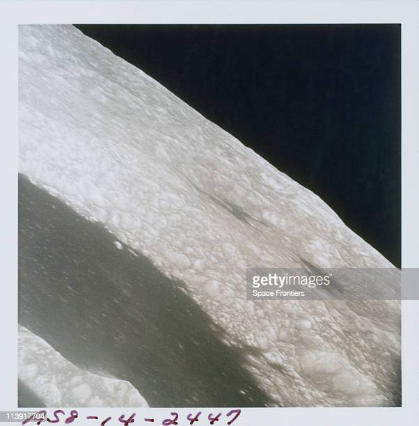 The surface of the far side of the Moon photographed by the crew of the Apollo 8 spacecraft from its lunar orbit December 1968 The Apollo 8 crew were...