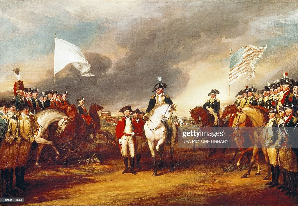 The surrender of Cornwallis at Yorktown : News Photo