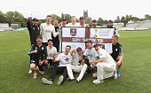 worcester england surrey squad celebrate pitch