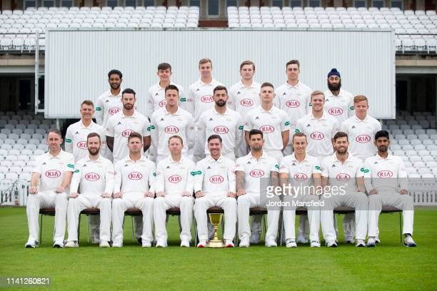 The Surrey Team of Rikki Clarke Mark Stoneman Stuart Meaker Gareth Batty Rory Burns Jade Dernbach Tom Curran Ben Foakes and Arun Harinath Scott...