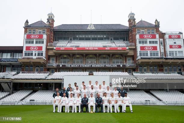 The Surrey Team of Rikki Clarke Mark Stoneman Stuart Meaker Gareth Batty Alec Stuart Rory Burns Michael Di Venuto Jade Dernbach Tom Curran Ben Foakes...