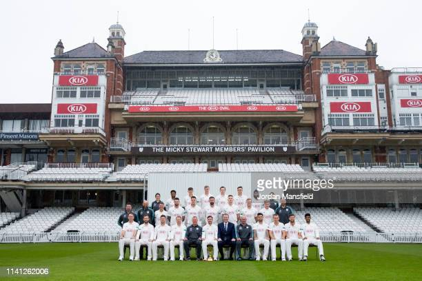 The Surrey Team of Rikki Clarke Mark Stoneman Stuart Meaker Gareth Batty Alec Stuart Rory Burns Chairman Richard Thompson Michael Di Venuto Jade...