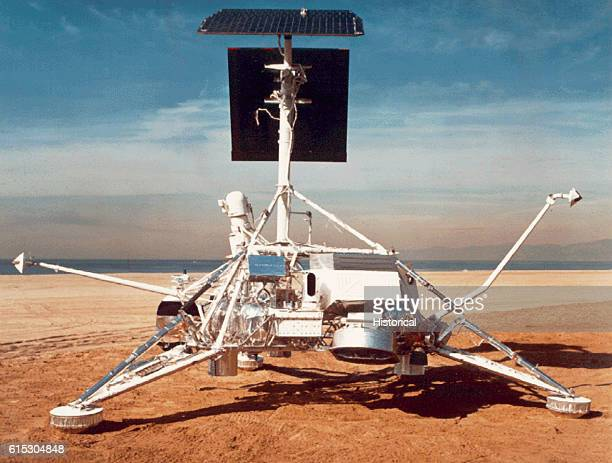 The Surveyor Moon Lander built for NASA by Hughes Aircraft Company These robot spacecraft landed on the moon prior to the landing of men