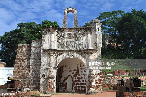 The surviving gate of the A Famosa Portuguese fortress in Malacca This historical city centre has been listed as a UNESCO World Heritage Site since 7...