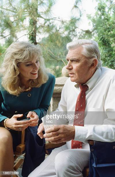 MATLOCK The Suspect Episode 7 8 Pictured Brynn Thayer as Roxanne Windmere Andy Griffith as Benjamin Matlock