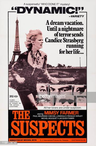 The Suspects poster US poster art Mimsy Farmer 1974