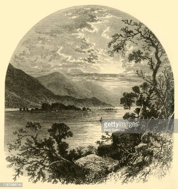 The Susquehanna', 1874. View of the River Susquehanna on the East Coast of the USA. '...there is a constant succession of bold mountain-forms, wooded...