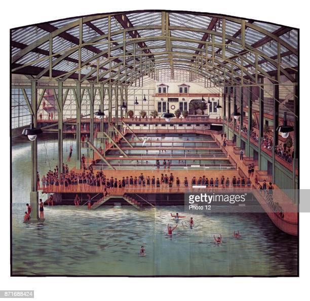 The Sutro Baths a large privately owned swimming pool complex near Seal Rock in San Francisco California built in the late 19th century 1910