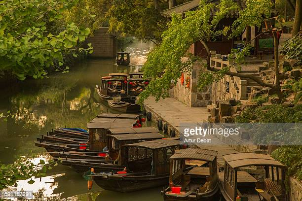 The Suzhou water canals ancient town