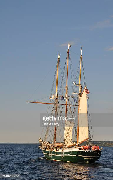 CONTENT] The S/V Denis Sullivan is a replica threemasted wooden gaff rigged schooner from Milwaukee Wisconsin Seen here during the Traverse City...