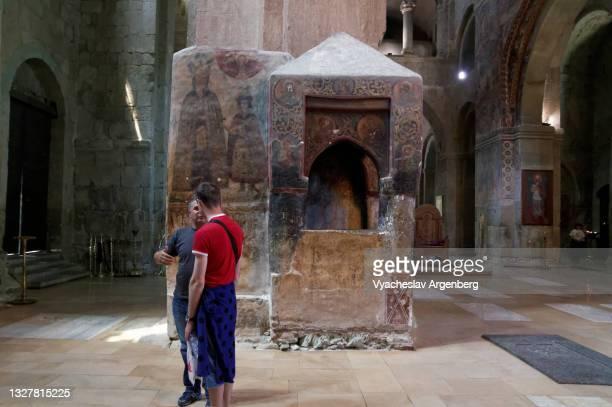 the svetitskhoveli cathedral, mtskheta - argenberg stock pictures, royalty-free photos & images