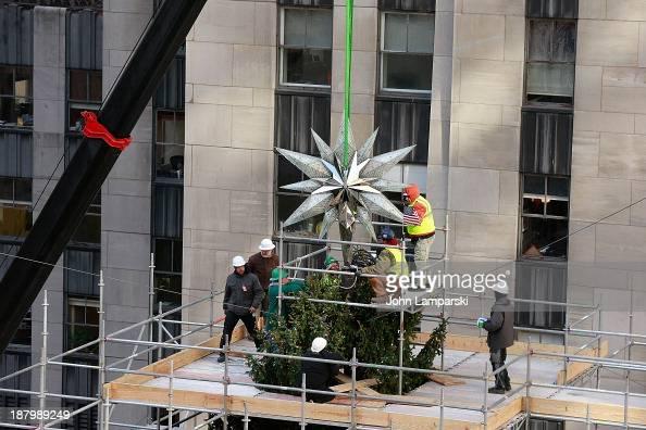 The Swarovski Star Raising For 2013 Rockefeller Center