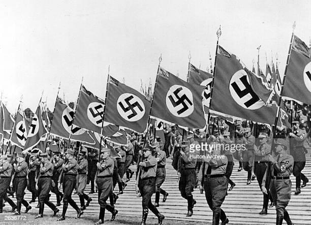 The swastika at the Parade of the Political Administrators in Nuremberg