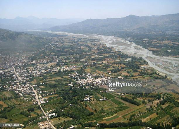 The Swat valley of Pakistan is seen on Friday May 22 from an army helicopter