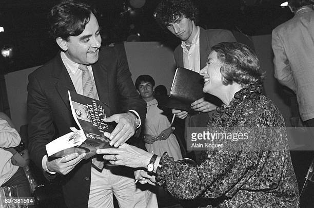 The Swedish actress has just published her latest book entitled Ma Vie She is pictured with Bernard Pivot the famous TV presenter