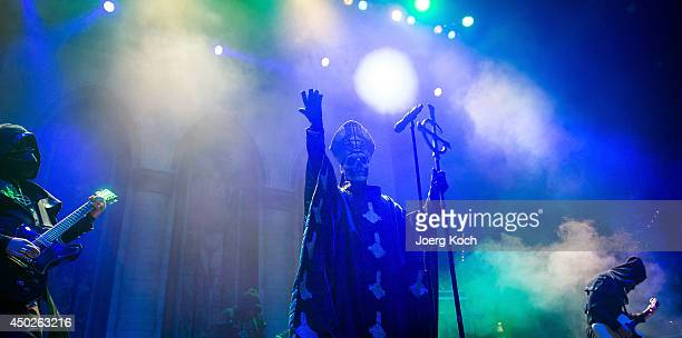 The swedish band 'Ghost' with singer Papa Emeritus II performs on Alternastage during the second day of 'Rock im Park' at Zeppelinfeld on June 7 2014...