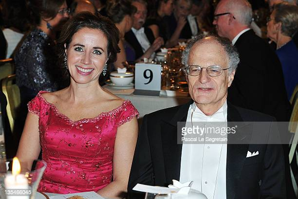 The Swedish prime minister's wife Filippa Reinfeldt and Nobel Prize for Economics laureate Thomas Sargent and at the Nobel Prize Banquet at Stockholm...