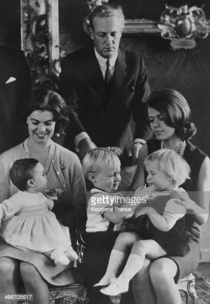 The Swedish Royal family celebrated New Year together at Drottningholm Castle on January 03 1966 in Drottningholm Sweden